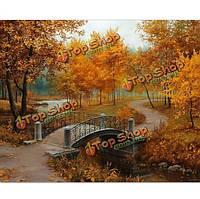 Поделки картина маслом по номерам цифровые комплекты картина маслом осень бескаркасных холст домашнего декора стены 40x50cm