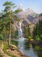 Цифровой живописи маслом поделок пейзаж картины номера комплектов бескаркасных холст домашнего декора стены 40x50cm