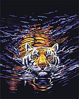 Цифровая картина маслом картина маслом поделок по номерам комплектов тигра бескаркасных холст домашнего декора стены 40x50cm