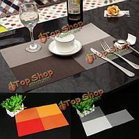 Сетки тканые ПВХ изоляции жары столовых украшение стола коврик