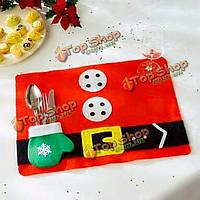 Ужин Рождество посуда коврик партия таблица бегуна коврик столовых Санта-Клаус Декор