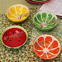 Керамическая чаша ручной ручной росписью фруктов арбуз чаша суп Керамическая чаша для риса