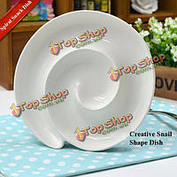 Творческий керамическая спираль закуски блюдо для завтрака хлеб блюдо пластина
