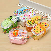 Student Plastic Portable Lunch Storage Box Bento Box Food Container