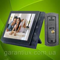 """Видеодомофон LUXURY 806 R2 JS с функцией записи и экраном 8"""" дюймов серый"""