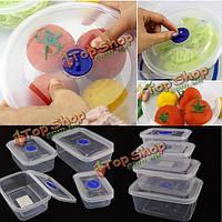Прямоугольник прозрачный четче микроволновую пластиковый ящик для хранения продуктов питания
