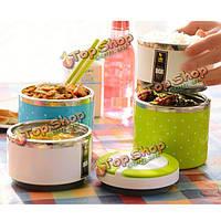 Нержавеющая сталь изоляции коробка для завтрака красочный контейнер еды