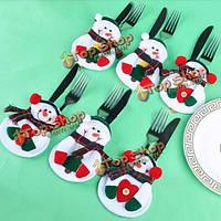 Рождество держатель снеговик столовые приборы посуда ужин декор