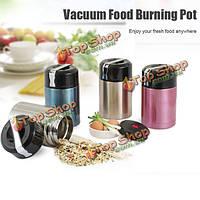 1000мл горения вакуумной изоляцией горшок еды еды баночка из нержавеющей стали термальный Закуска контейнер для пищевых