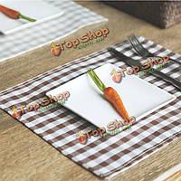 Салфетки джута хлопка льняные ткани в стиле кантри столовых каботажное судно обеденный стол коврик