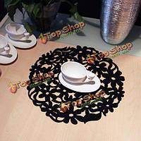 Чувствовал вокруг кружева цветок столовых обеденный стол коврик коврик теплоизоляция
