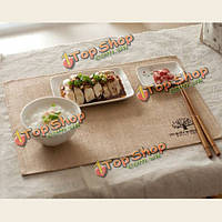Льняная ткань в стиле кантри столовых каботажное судно обеденный стол коврик