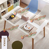 ZAKKA хлопок льняной тканью в стиле кантри водонепроницаемый столовых каботажное судно обеденный стол коврик