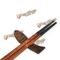 4шт японский стиль рыбы деревянные палочки для еды ложка держатель стойки