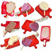 1шт DIY сыр силикона мороженого плесени желе пудинг кекс инструмент печенья формы мороженого