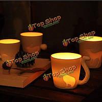 Творческий сказка лес чашки животных керамическая кружка матовое чашки кофе меноры свечи чашки