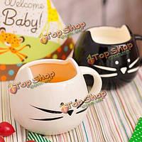 Творческая керамическая кошка животное чашка кофе кружку воды стакан молока влюбленные пары чашки