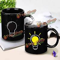 Лампа загорается изменение цвета чашка кофе, чай кружка керамическая чашка