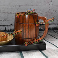 400мл классической деревянной пивной кружкой с ручкой деревянная пивная кружка