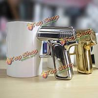 Пистолет ручки чашки чашка пистолет ручка кофейной чашки керамическая кружка