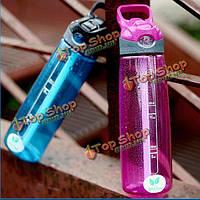 700мл спортивные соломы бутылки пластиковый прозрачный переносной ручкой питьевой бутылки