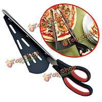 Удлинить нержавеющей стали ножницы для пиццы лопатка 31см