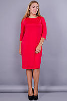 Арина. Платье больших размеров. Красный. 50