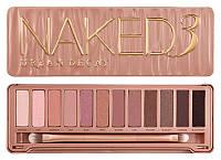 Тени для макияжа 12 оттенков Naked 3 Urban Decay палитра теней нейкед 3 12 цветов