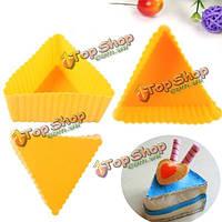 12шт силиконовые треугольник Cake кекс формы для выпечки сдобы чашки прессформы прессформы