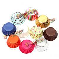 50шт бумага Cake чашки выпечки сдобы лайнеры кухня ремесло партии DIY