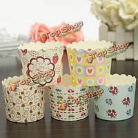 50шт выпечка кекс бумажные стаканчики кекс сдобы случаи выпечки инструменты сторонних производителей