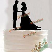 Невеста жениха свадебный торт Топпер счастливый день рождения торт ботворезы поставок украшения