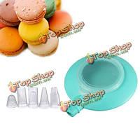 Мини-силиконовые торт макарон отделка пера 3 форсунки комплект