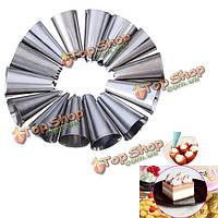 14 стилей кондитерских труб Формочки кондитерские советы установить украшения торта