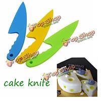 3шт пластиковые Cake сервер нож резак печенья хлеб