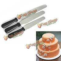 Пластиковая ручка прямой гладкой лопаточки для тортов начинки глазурь инструмент