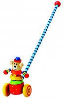 Каталка Медведь Деревянные развивающие игрушки