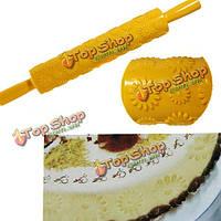 Дейзи цветок fondant торт украшая пасты скалкой выбивая плесень