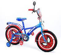 """Велосипед для мальчика 7-10 лет 151824: колеса 18"""", 2 страховочных колеса, ножной и ободной тормоз"""