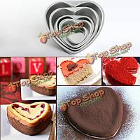 Алюминия в форме сердца фондант торт прессформы шоколада прессформы свадебный подарок