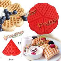 Сердце любовь силиконовая форма вафельные формы формы торта выпечки прессформы