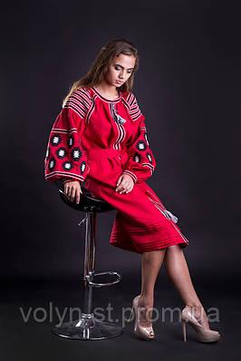 Платье вышитое,фасон №1
