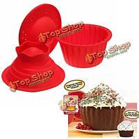 3шт шапито кекс пан гигантские силиконовые формы для выпечки набор