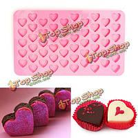 55 отверстий мини-силиконовые Cake сердце сдобы шоколада плесень