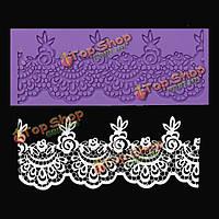 Цветок кружева силиконовые формы помадки сахара корабля венчания для украшения торта прессформы
