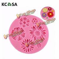 KCASA™ ромашка силикон помадной Cake плесень шоколад плесень полимерной глины