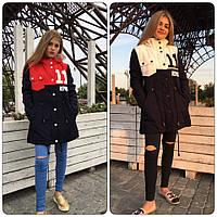 Куртка парка женская зимняя с капюшоном разные цвета SRm170