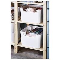 IKEA ПЛУГГИС Контейнер д/сортировки мусора, белый : 80234707, 802.347.07