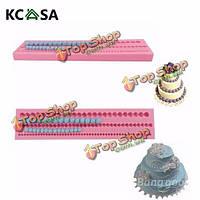 KCASA™ 3D шарик жемчужный украшения силиконовые формы торта помадка край