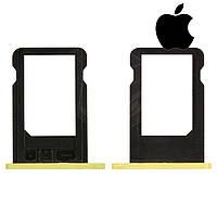 Держатель SIM-карты для Apple iPhone 5C оригинал, желтый